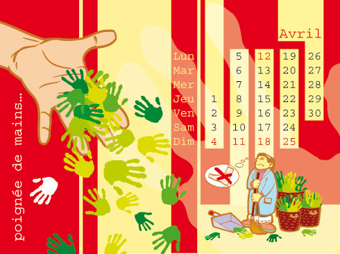 Calendrier - Franck Perrot Design - Apicom - Illustration - Graphisme