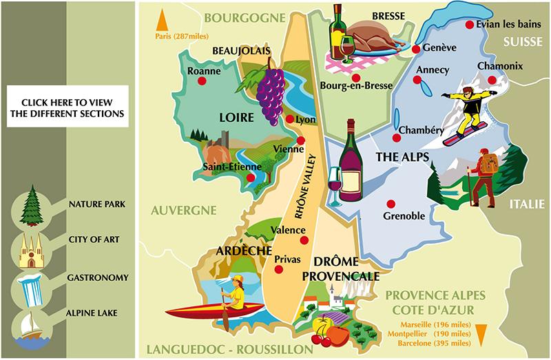 Carte interactive patrimoine / Franck Perrot Design / DDB / Illustration