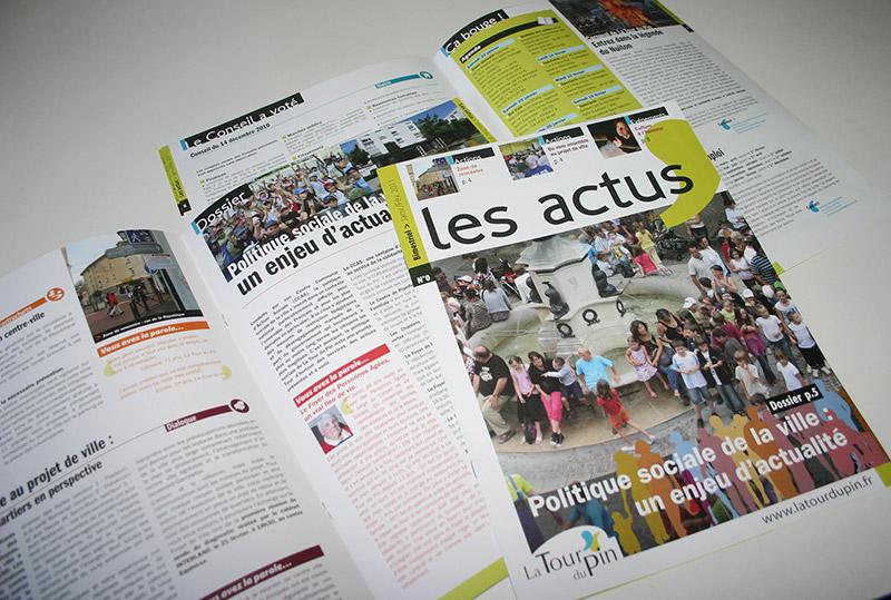 Maquette magazine la Tour du Pin - Franck Perrot Design - Apicom - Graphisme
