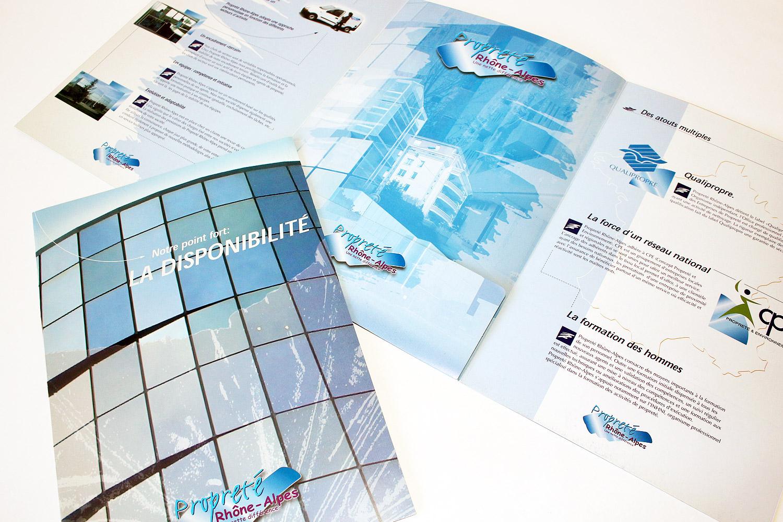 Plaquette Propreté Rhône Alpes - Franck Perrot Design - Graphisme