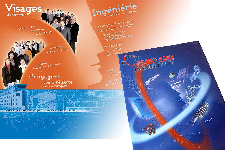 Plaquette BSMA - Franck Perrot Design - Apicom - Graphisme