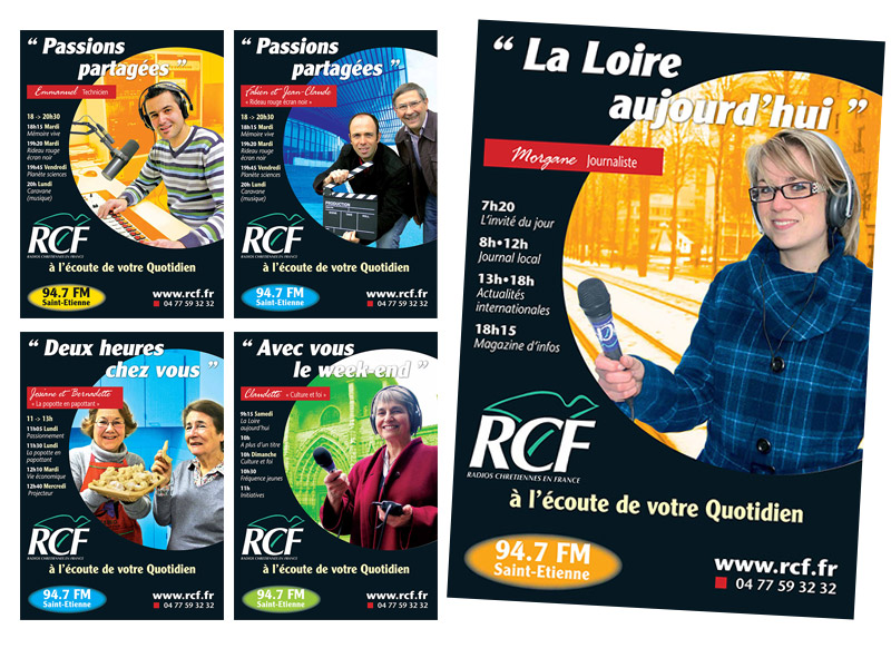 Affiches RCF 2009 - Franck Perrot Design - Apicom - graphisme - photos