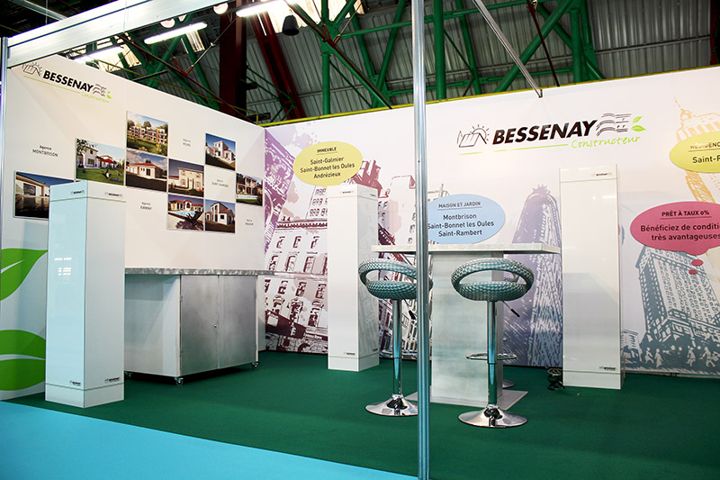 Stand Bessenay 2016 - habillage graphique Franck Perrot Design