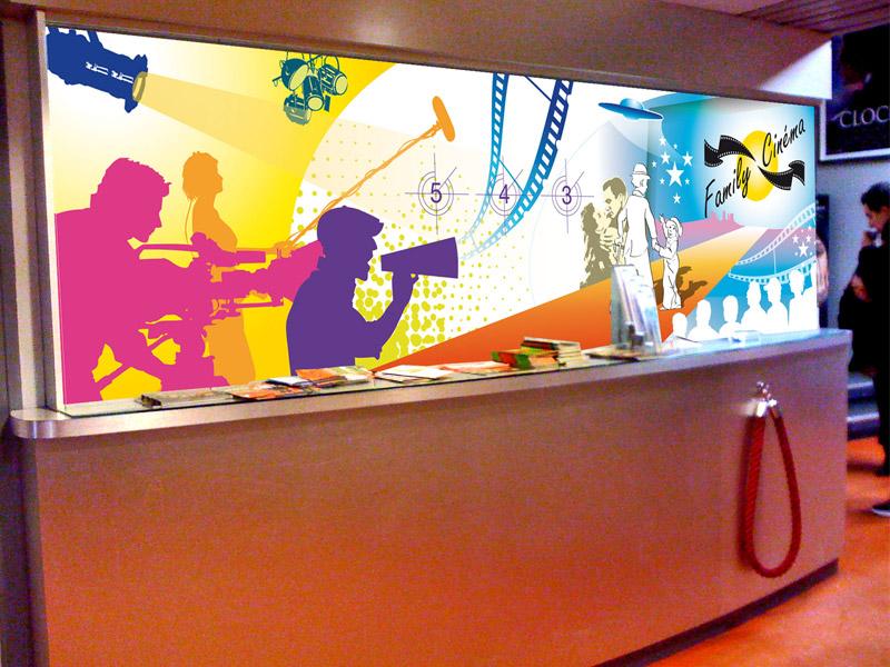 Panneau décoratif Family Cinéma