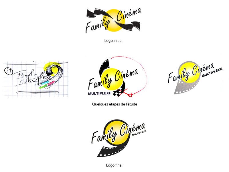 Etude du logotype Family Cinéma