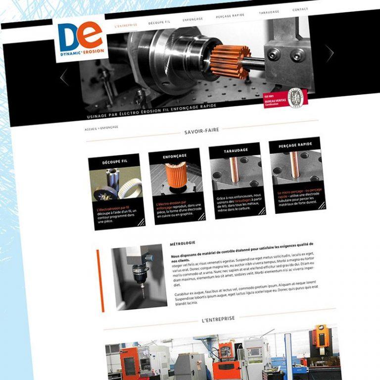 Webdesign site, Franck Perrot Design, Imageurs, Dynamic Erosion