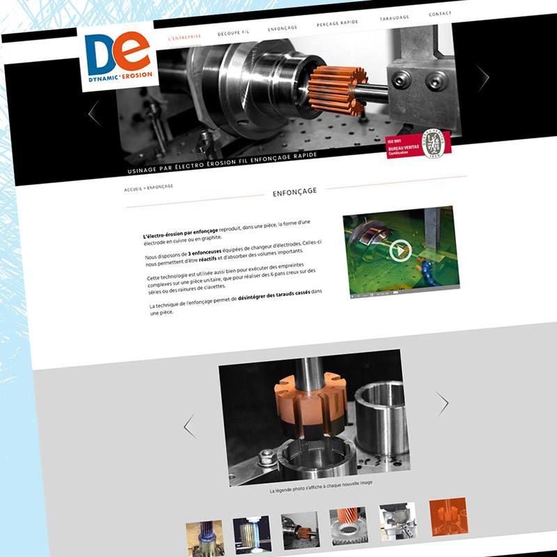 Webdesign Dynamic Erosion - Franck Perrot Design - Imageurs - Graphisme