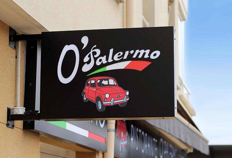logotype pour la pizzeria O'Palermo