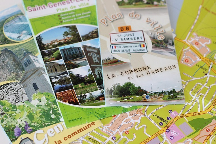 Plans de communes - Franck Perrot Design - Apicom - Graphisme