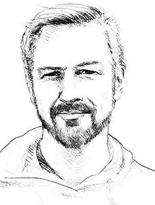 autoportrait de Franck Perrot graphiste web-designer