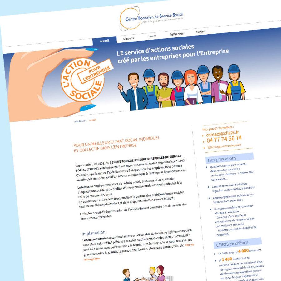 cfie2s - Design de la page d'accueil du Centre Forézien de Service Social