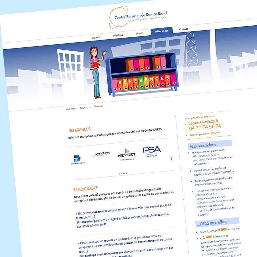 cfie2s-Design de la page références du Centre Forézien de Service Social