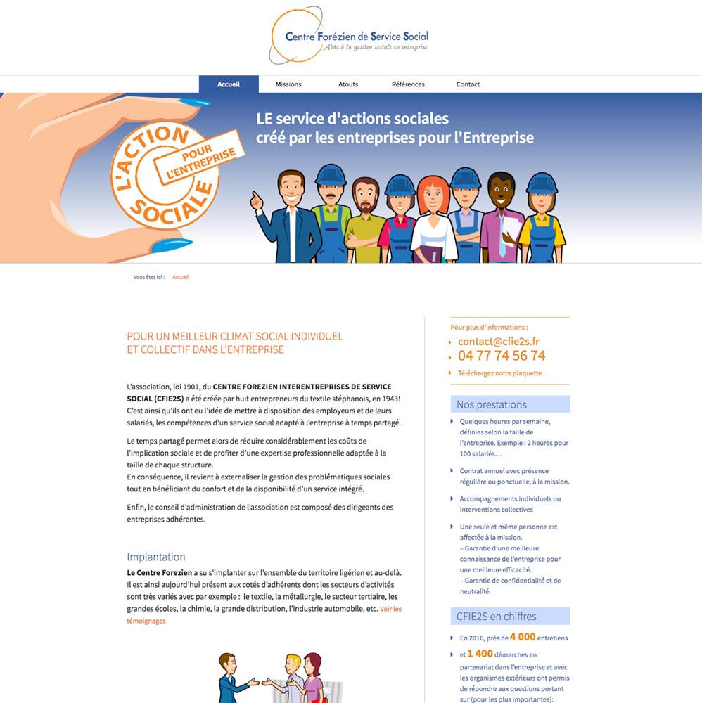 cfie2s-Webdesign site, Franck Perrot Design