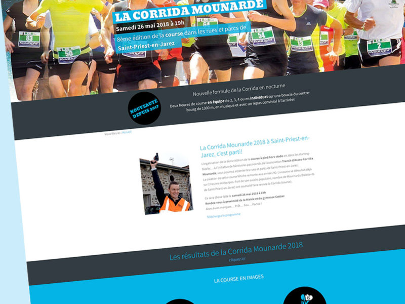 Corrida Mounarde - page d'accueil - Franck Perrot Design