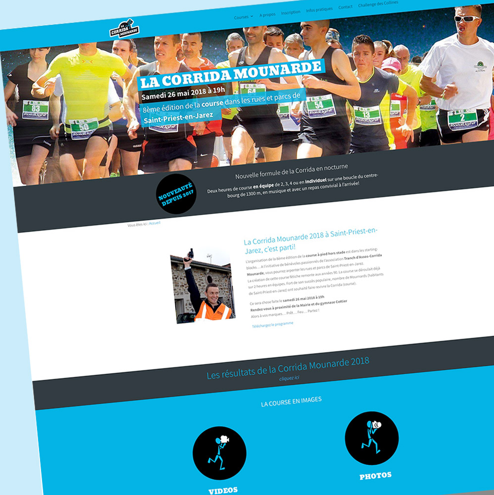 Corrida Mounarde - page d'accueil - Franck Perrot Design