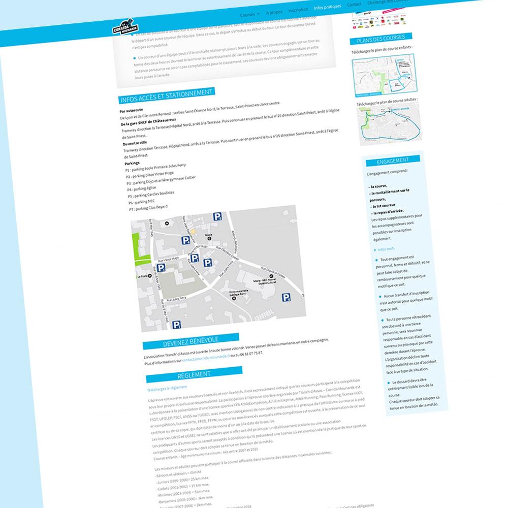 Corrida Mounarde - page Infos pratiques- Franck Perrot Design