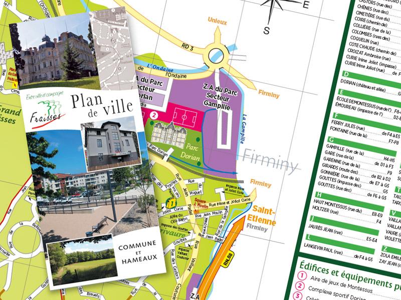 Plan de la commune de Fraisses (Loire) - Franck Perrot Design 2018