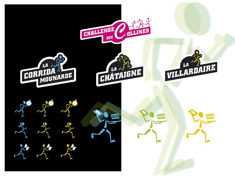 logos et pictogrammes - challenge des trois collines-2017